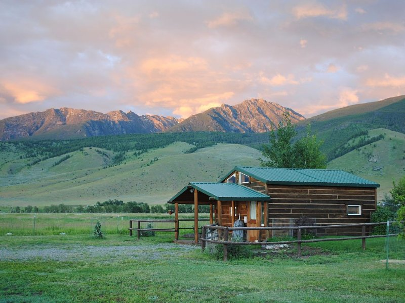 Dexter Peak Cabin at the base of the Beartooth Mountains, minutes to Yellowstone, location de vacances à Livingston