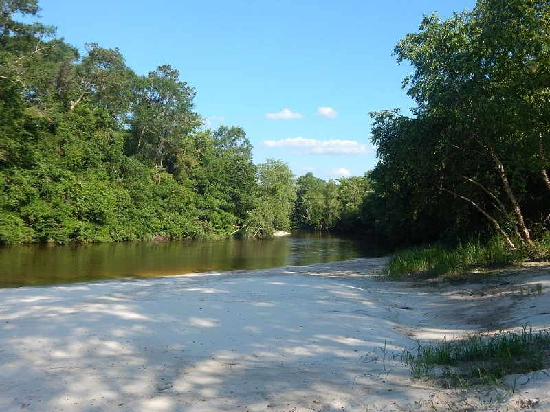 Uncle Ralph's House on Beautiful Red Creek! Large Home w Privately Owned Beach, holiday rental in Wiggins