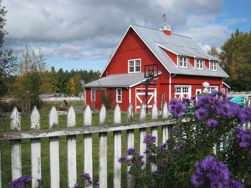 Side view of Red Barn.  Loft is the upper floor of the barn