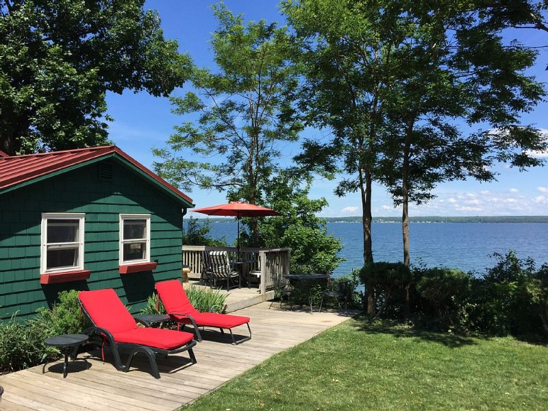 Quiet And Cozy Cabin With 165 Ft. Private Beach On Seneca Lake. LGBTQ+ friendly, vacation rental in Romulus