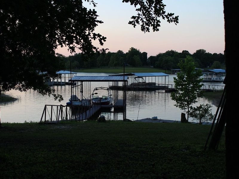 View of backyard towards the dock.