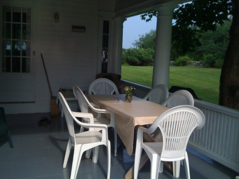 The porch on the northeast side of the house is a nice place to hangout!