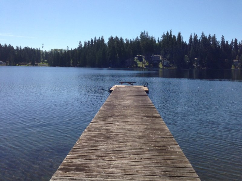 View of the lake from our dock