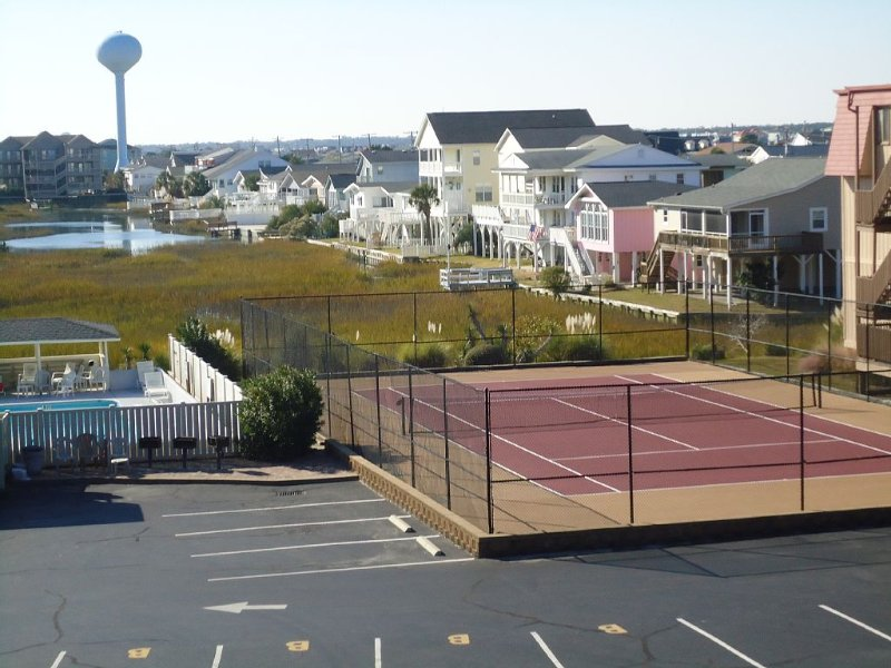 Tennis Court and grilling area