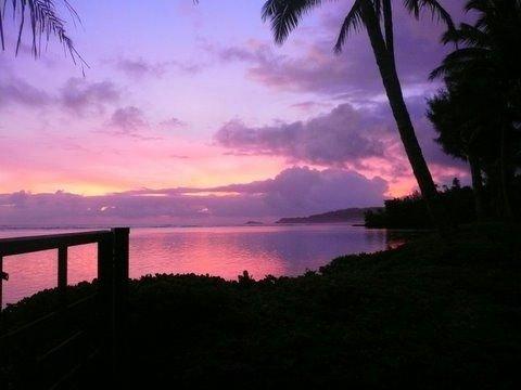 a sunset at Anini