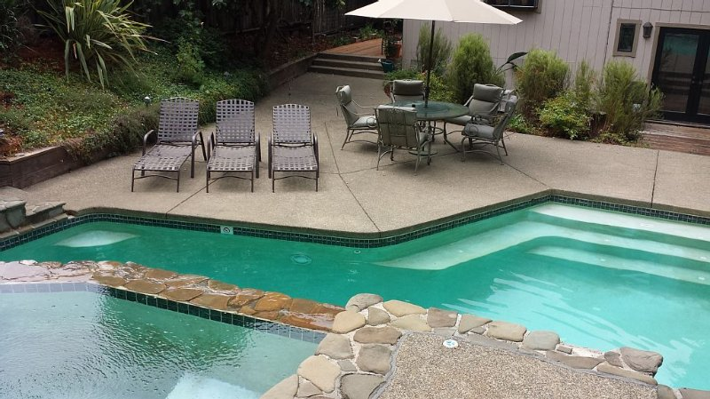 View of Pool from Upper Hot Tub Area