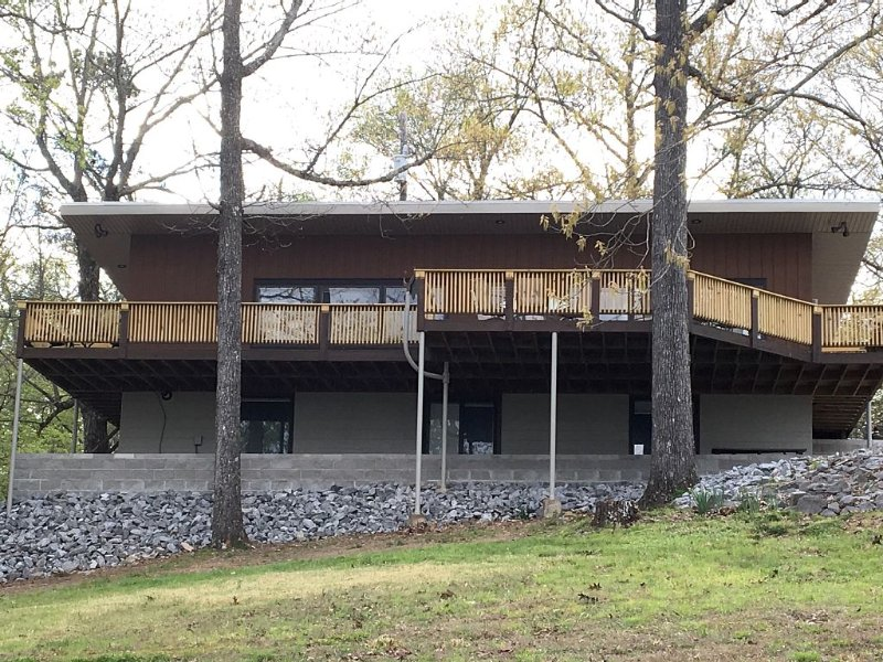 A view of the house from the back yard