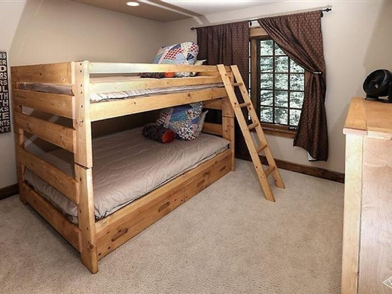 Double bed bunk beds in 5th bedroom with hidden trundle