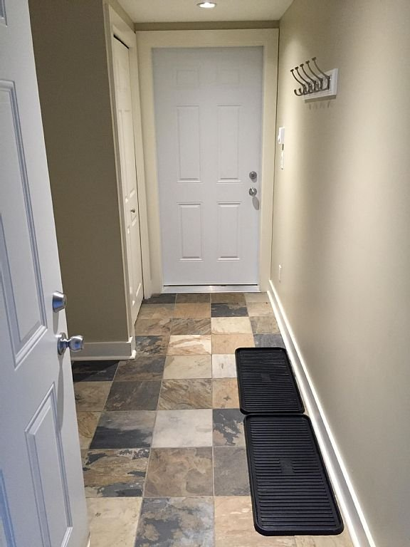 Heated Entrance way, lots of storage for your coats, ski/hiking gear .