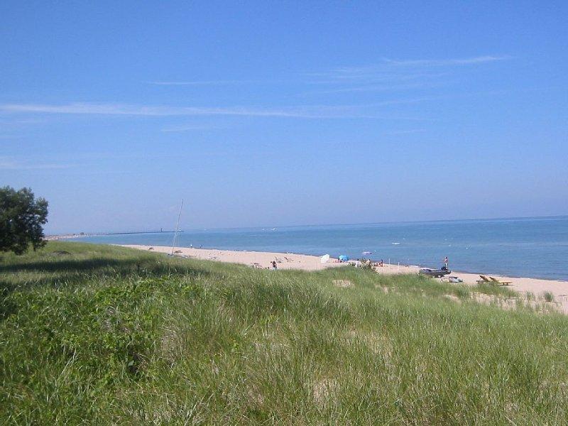 Lake Michigan shoreline in SW Michigan - best fresh water beach in the U.S.