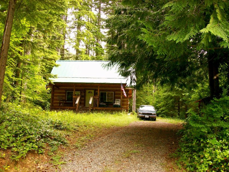 Camp Wolf At Lake Cushman - view from the road
