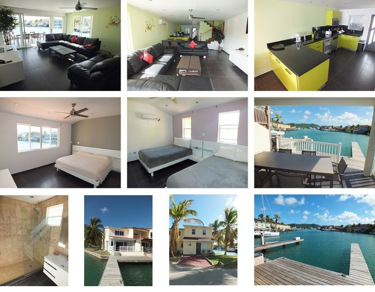 Beautifully Modern Jolly Harbour Antigua Villa with private dock on the water. – semesterbostad i Antigua