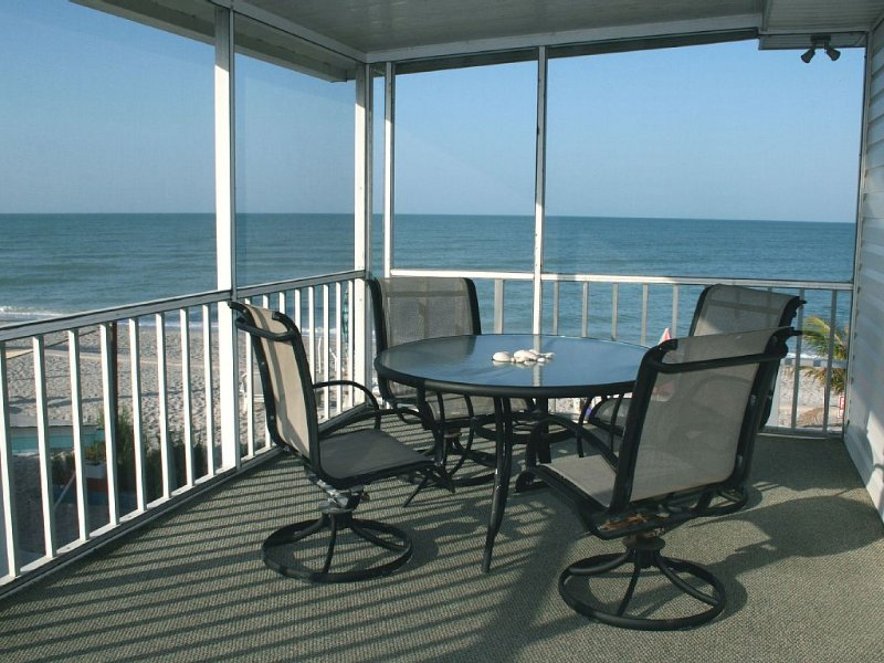 The screened porch has great views!