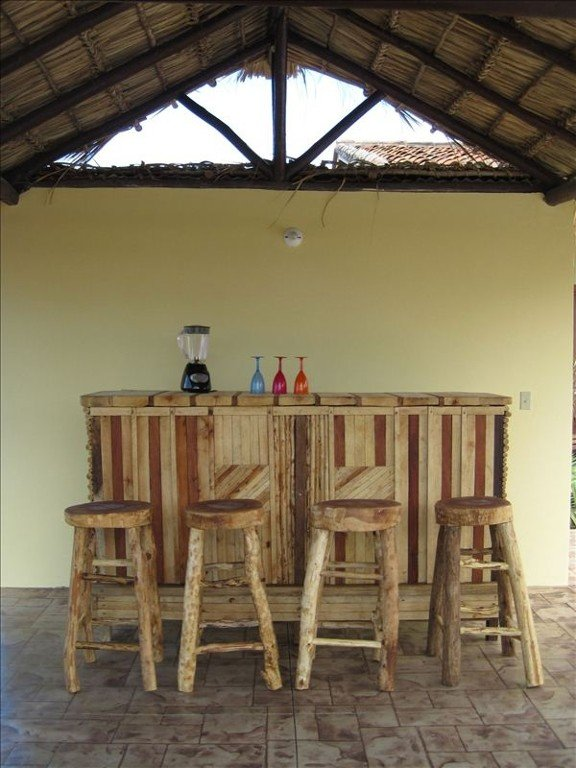 Outdoor palapa bar area for outdoor dining, relaxing, or a shady retreat.