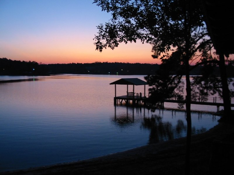 What can I say, other than a typical sunset at the cabin from the porch.