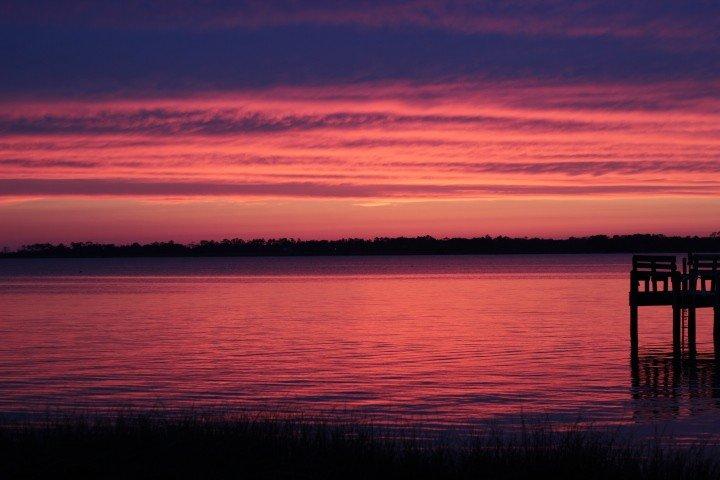 Sunset at sound
