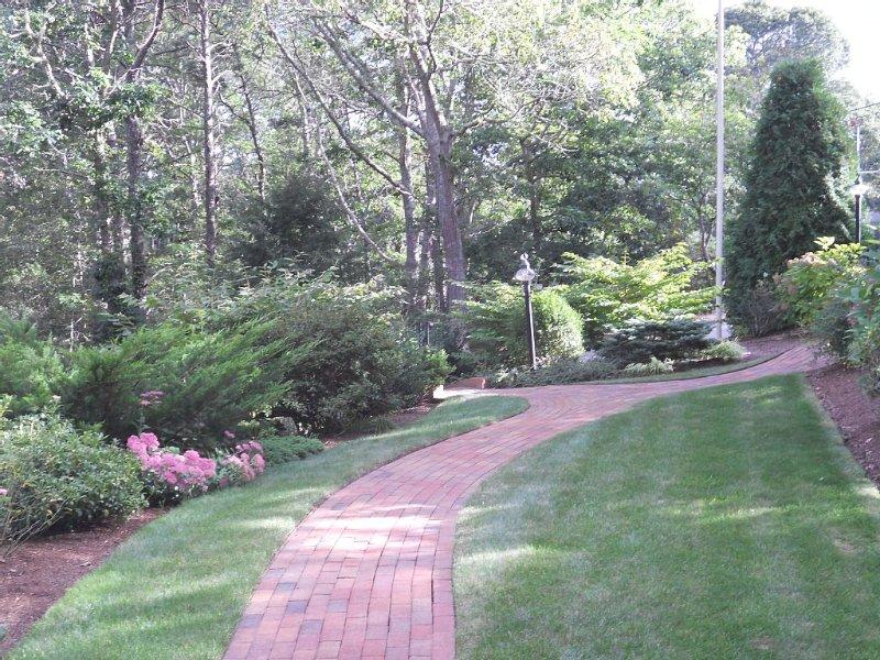 Beautiful landscaping.