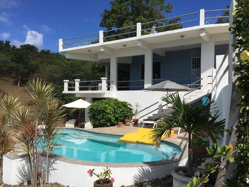 Lush hillside retreat overlooking the Caribbean, holiday rental in Isabel Segunda