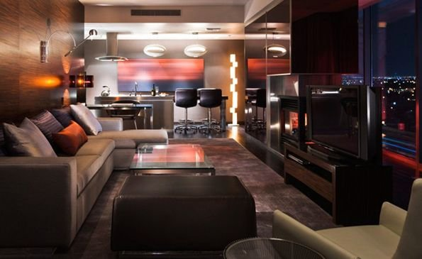 Palms Place Hotel-Stunning Modern Giant Suite-Amazing Strip View!!! Great Price!, aluguéis de temporada em Las Vegas