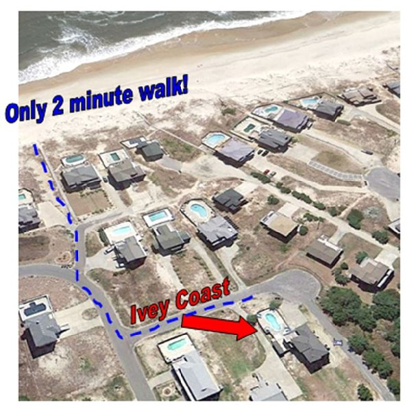 2 Minute Walking Distance to the Beach!