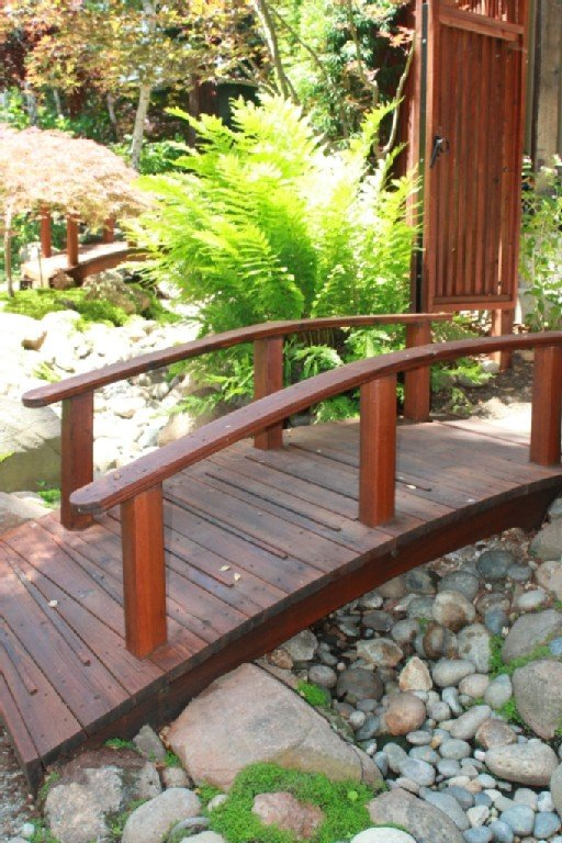 footbridge from driveway to cottage