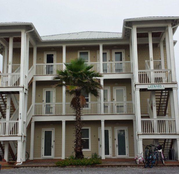View of the condo from the road (Unit 3 is on the bottom right)