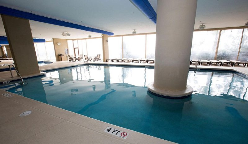 Go for a swim year round in the indoor pool at the towers