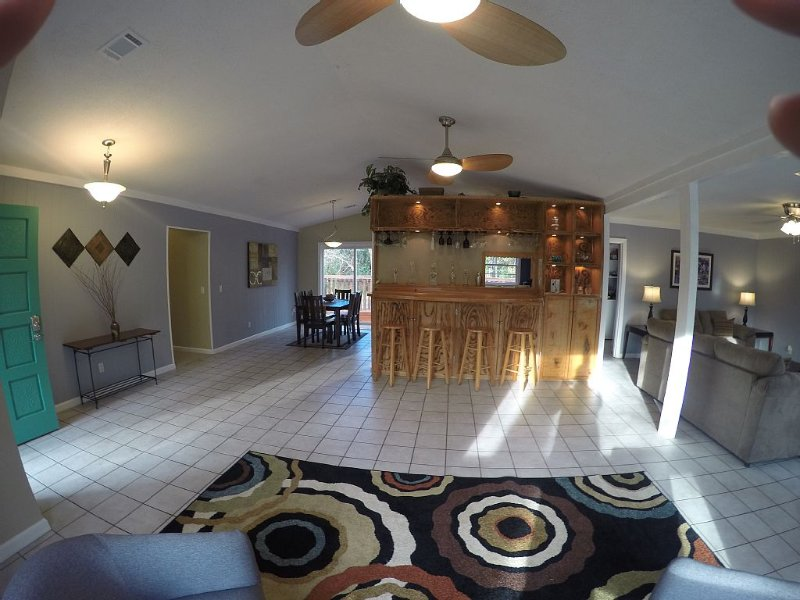 main living area showing the open floor plan