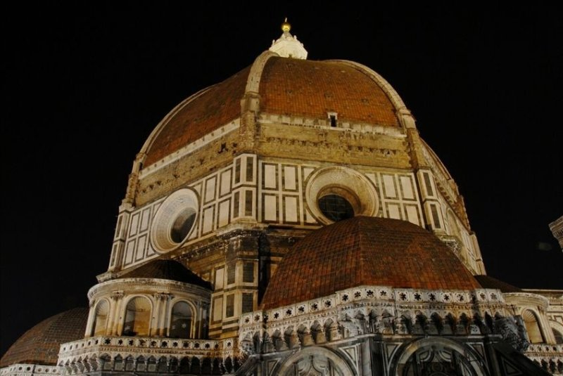 Duomo Cupola from Terrace at night