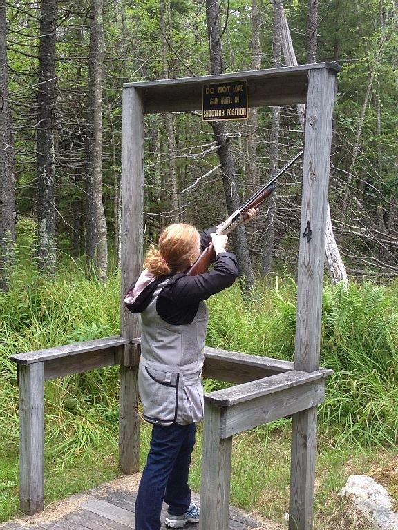 Skeet shooting is a blast!