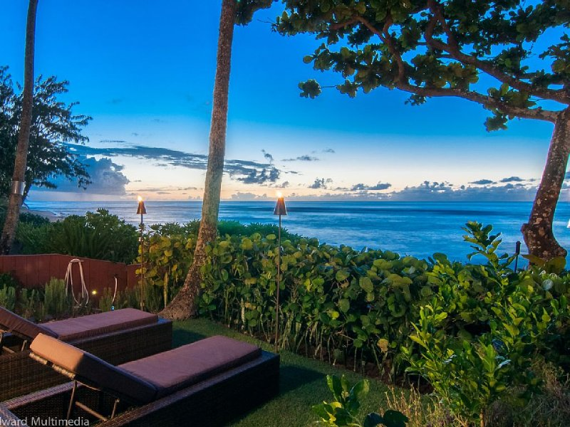 Elegant,Private,Sandy Beachfront,Spa Boutique Resort & Ocean Amenities Galore, holiday rental in Haleiwa