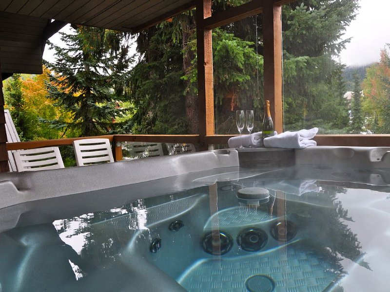 Relax At Glaciers Reach In Whistler With Private Hot Tub & Free Parking, vacation rental in Whistler
