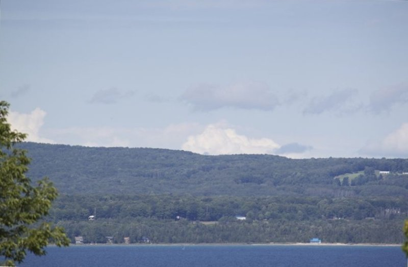 Little Traverse Bay is a short walk away and can be seen from the cottage.