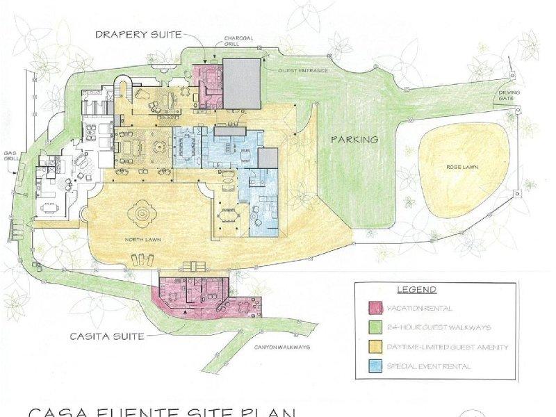 Site Plan: Common areas