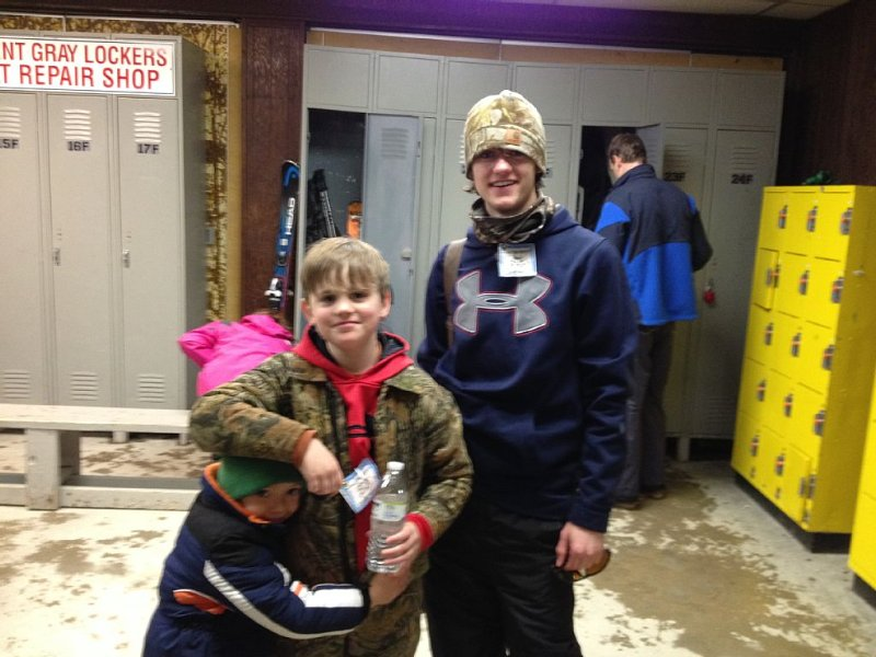 The boys getting ready to hit the slopes!
