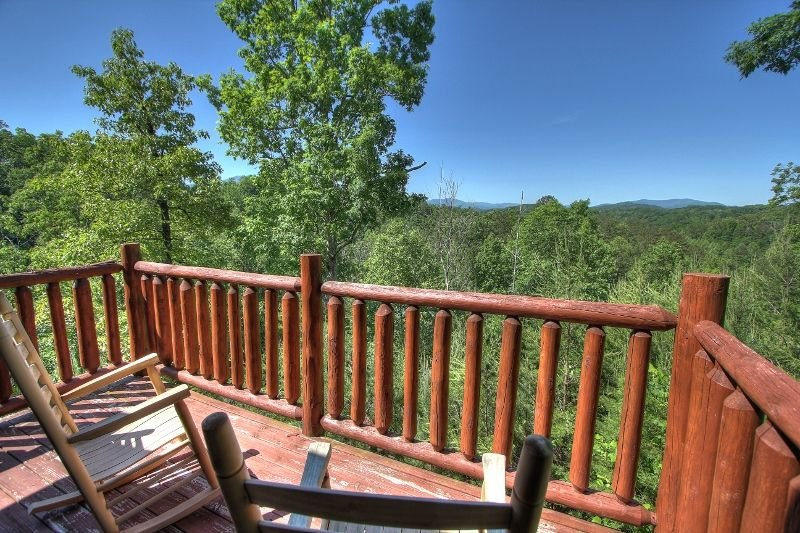 Private balcony off master bedroom with beautiful mountain view