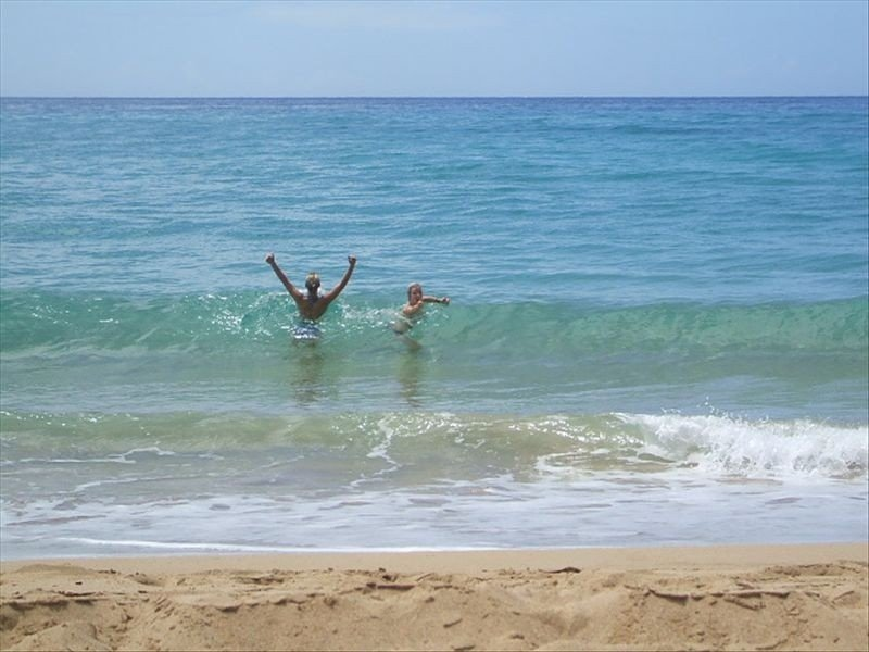 Awesome surfing/body surfing/boogie boarding for the whole family--FUN FUN FUN!!