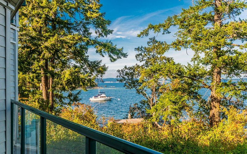 Great Price !! Oceanfront , outdoor hottub  FALL SPECIAL $135.00 a night, holiday rental in Cowichan Valley Regional District