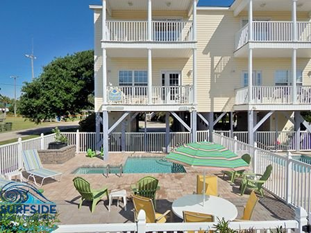 5BR 4.5BA, Priv Pool, 200 yds to beach, ocean views, next to Town Park/lake!!!, location de vacances à Surfside Beach