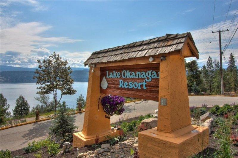 The entrance to Lake Okanagan Resort