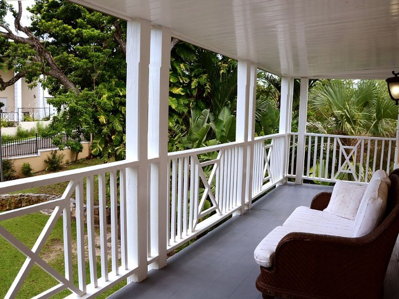 Get far from the madding crowd!  Hide on the front balcony with a book and wine.
