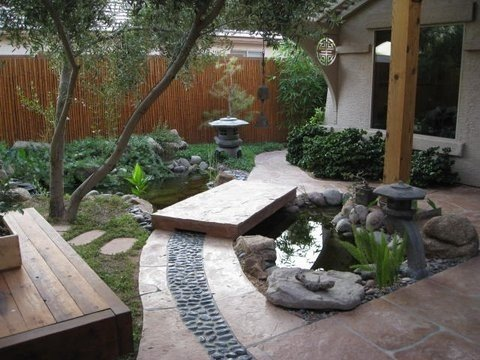 Sitting area and courtyard just outside your door