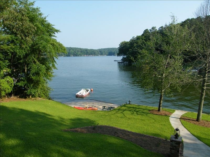 View of lake from Living Room Deck.