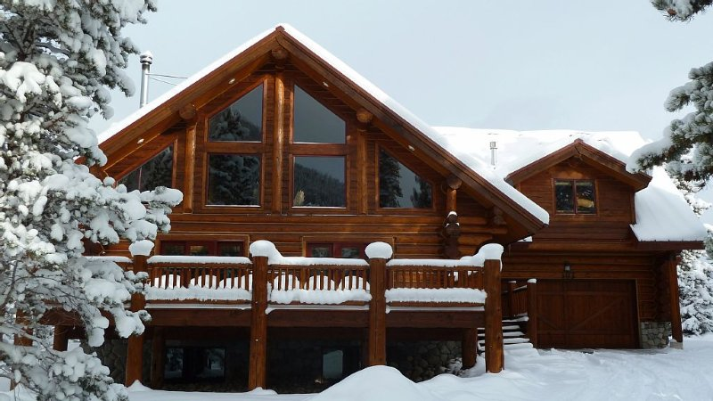 Custom Log Home, Gourmet Kitchen, Hot Tub, Deck, 65 inch HDTV, Wi-Fi, holiday rental in Frisco