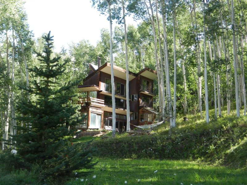Beautiful private Telluride retreat with amazing views, new hot tub, free WIFI., Ferienwohnung in Telluride