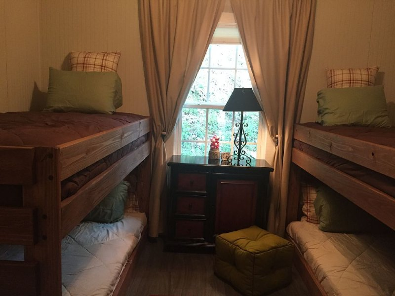 Bedroom with Bunk Beds and Extra Long Mattresses