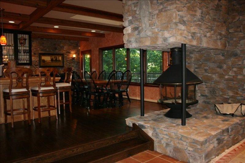360-degree fireplace