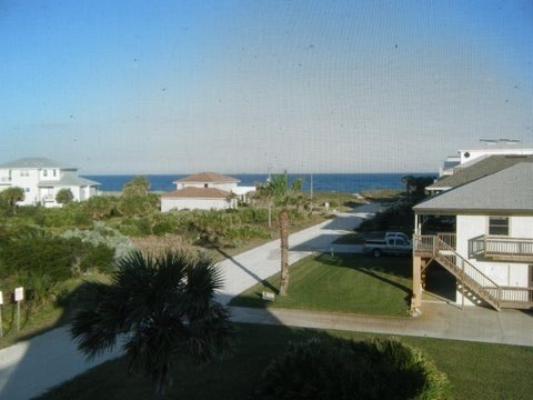 View from front deck and living room
