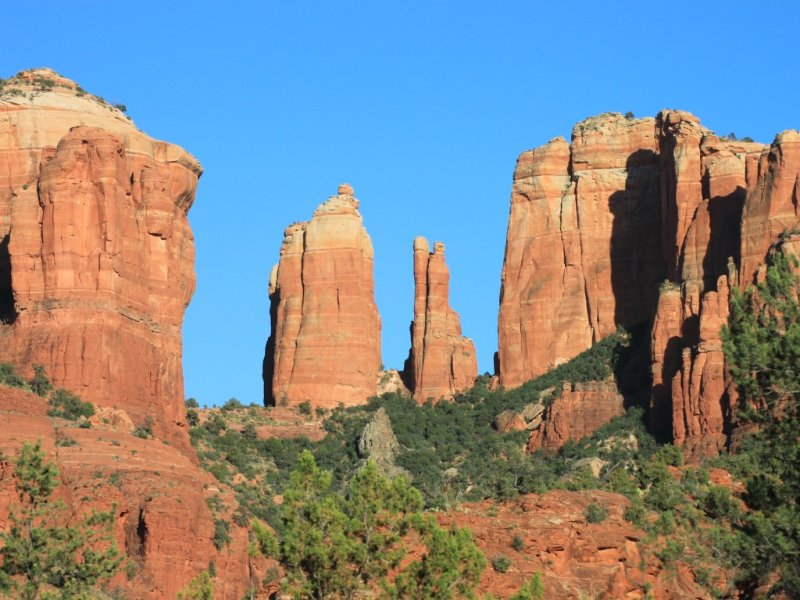 One of the many wonderful red rock formations in Sedona.