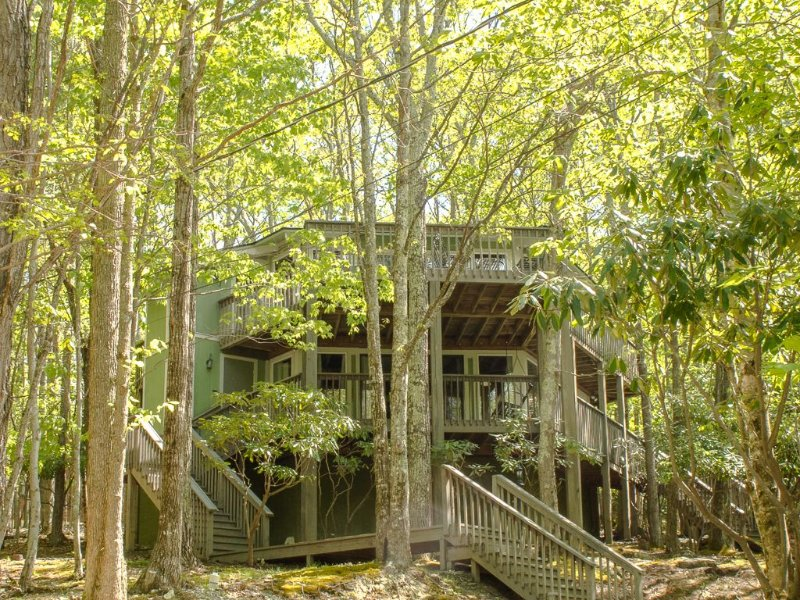 Double the Fun - Two Homes in One - 2 kitchens, 2 large decks, 2 fireplaces, holiday rental in Beech Mountain